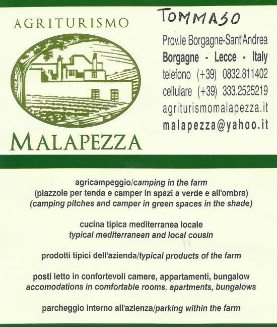 Agriturismo MALAPEZZA