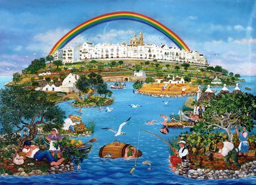 Copertina dedicata alla fine del mondo: La collina dell'arcobaleno di Vincenzo Milazzo