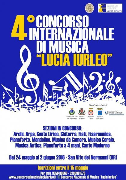 CONCORSO INTERNAZIONALE DI MUSICA LUCIA IURLEO