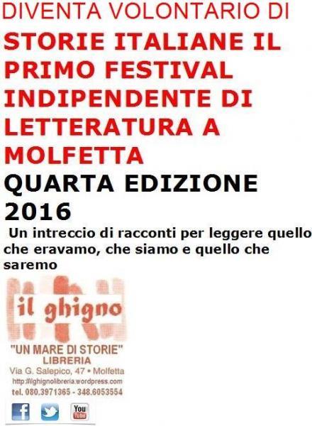 Diventa Volontario di Storie Italiane, il primo festival indipendente di Letteratura