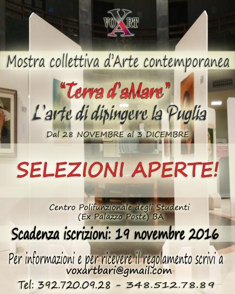 Selezione pittori per mostra dedicata alla Puglia