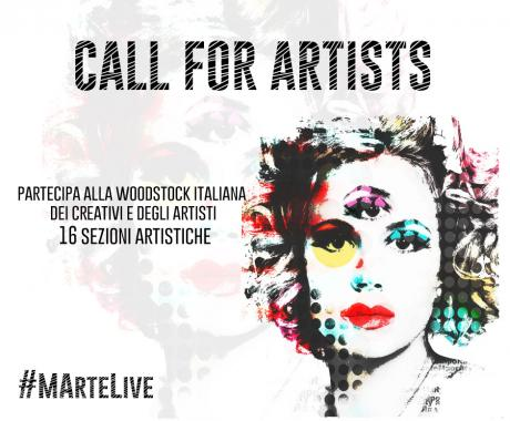 Call for Artists MArteLive 2017