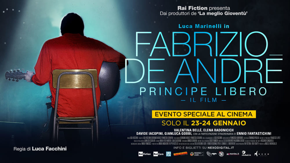 Fabrizio De André - Principe libero. La recensione del film biografico su Faber, interpretato da Luca Marinelli e diretto da Luca Facchini