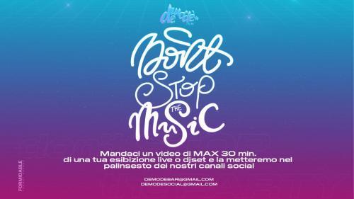 La musica non si blocca, l'iniziativa del Demodè Club