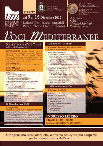 Voci Mediterranee - 3° Tappa