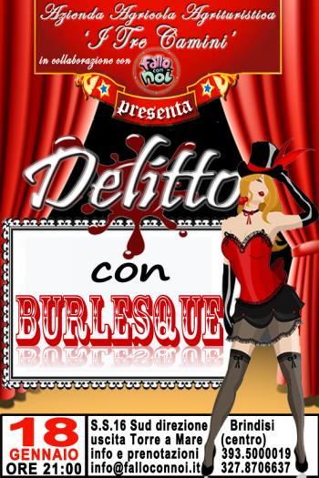 Delitto con Burlesque - Cena + Spettacolo live