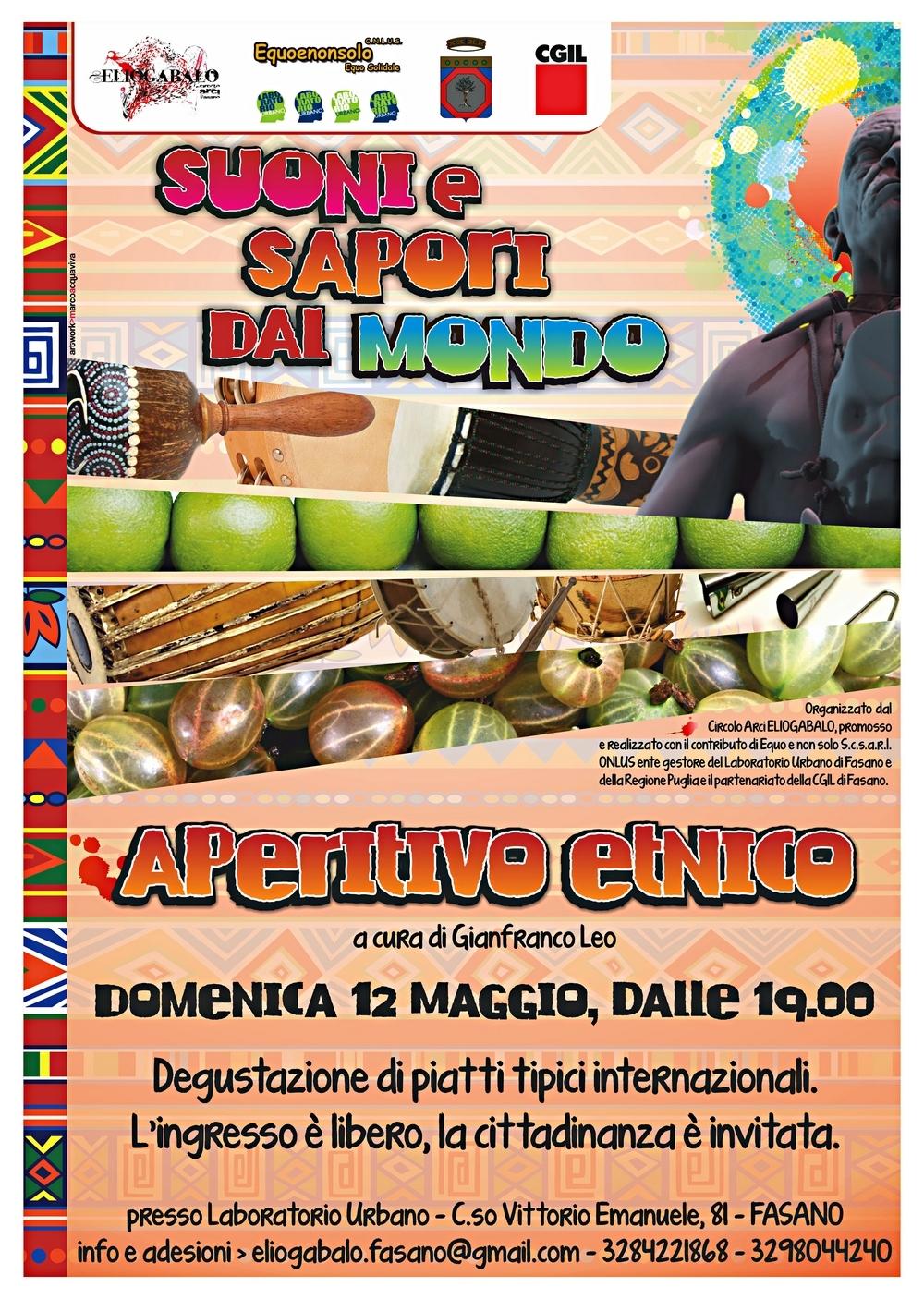 Suoni e sapori dal mondo aperitivo etnico fasano il for Arredamento etnico bari