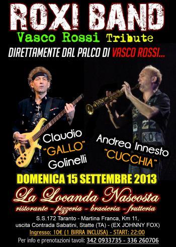 """La Roxi Band in concerto con Claudio Golinelli e Andrea """"Cucchia"""" Innesto"""