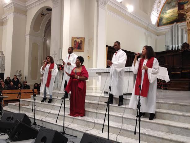 Voce di cheryl porter in concerto con gli halleluiah gospel singers