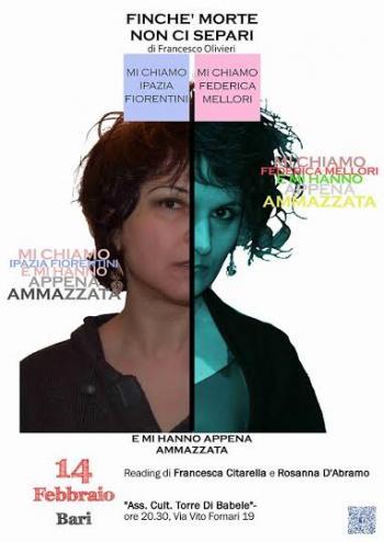 """Reading Painting di """"Finché morte non ci separi"""" con Francesca Citarella e Rosanna D'Abramo"""