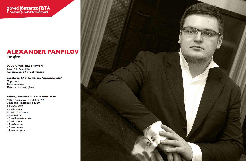 Amici della musica - alexander panfilov al pianoforte