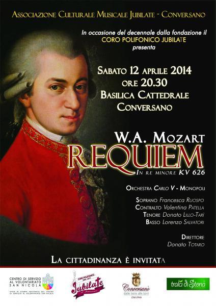 """Concerto """"Messa di Requiem"""" K626 di W.A. Mozart"""