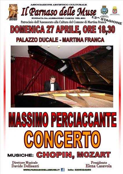 Recital pianistico Massimo Perciaccante