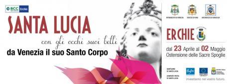 """""""SANTA LUCIA CON GLI OCCHI SUOI BELLI"""" da Venezia il suo Santo Corpo"""