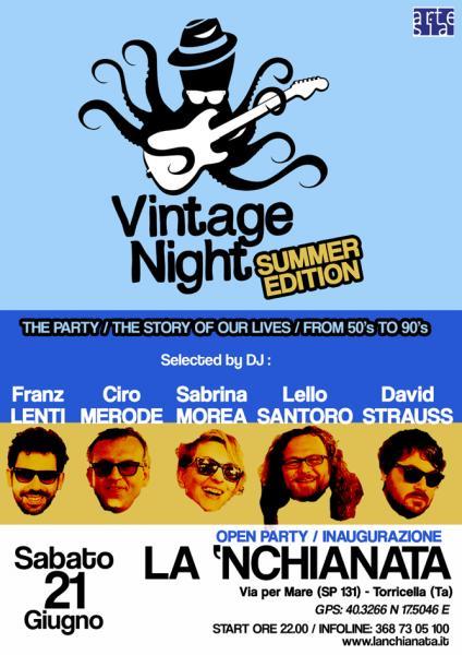 "Grande Festa di apertura con la ""Vintage Night"" Summer Edition"