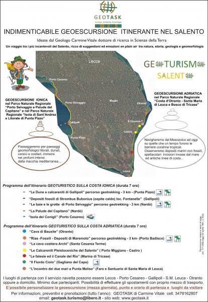 Escursione naturalistica di geologia e turismo Salento