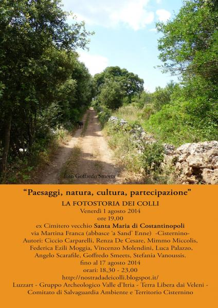 """LA FOTOSTORIA DEI COLLI: """"Paesaggi, natura, cultura, partecipazione"""""""