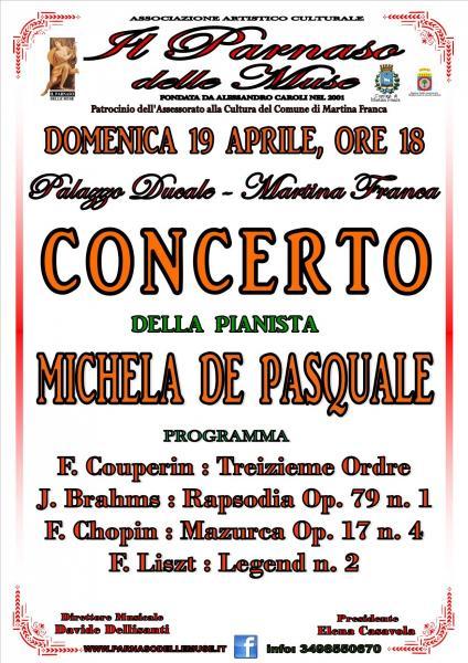 CONCERTO della Pianista Michela de Pasquale