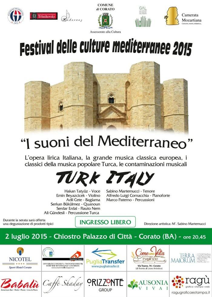 Concerto i suoni del mediterraneo corato il tacco di for Planimetrie del palazzo mediterraneo