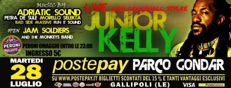 Il 28 Luglio la Reggae Summer Fest  con Junior Kelly