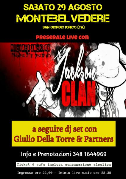 Tributo a Michael Jackson (The Jackson Clan) e dj set Giulio Della Torre