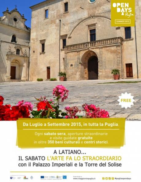 Puglia Open Days - visite guidate gratuite