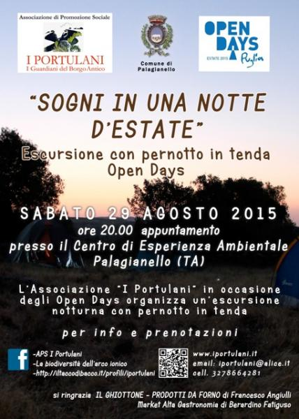 """Sogni in Una Notte D'estate"" - Escursione con Pernotto in Tenda, Open Days"