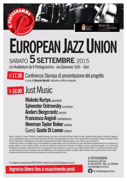 European Jazz Union - Just Music in concerto