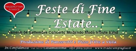FESTE di FINE ESTATE con le Migliori Cover Band