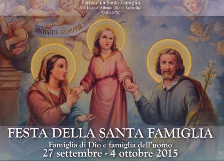 Festa della Santa Famiglia - Famiglia di Dio e famiglia dell'uomo