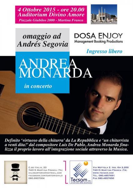 ANDREA MONARDA   omaggio ad Andrés Segovia