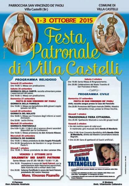 Festa Patronale di Villa Castelli, Anna Tatangelo in concerto gratuito