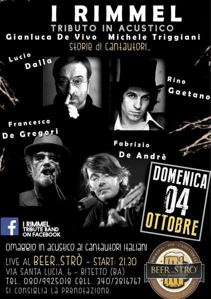 Tributo in Acustico a Francesco De Gregori - Fabrizio a de Andre' - Lucio Dalla e Rino Gaetano