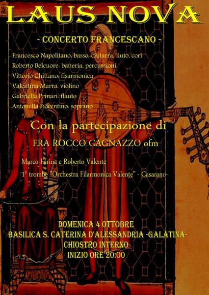 Concerto francescano per festeggiare il Patrono d'Italia