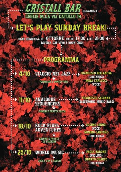 Let's Play Sunday Break!