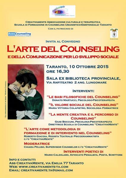 """Convegno su """"L'arte del Counseling e della comunicazione, per lo sviluppo sociale"""""""