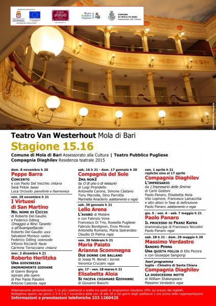 Teatro Van Westerhout Mola di Bari Stagione 15.16