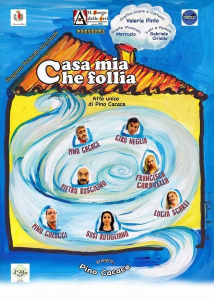 """DOMENICA 29/11 a: """"CASA MIA CHE FOLLIA"""" Commedia Comica alla FONTE DELLE MUSE"""