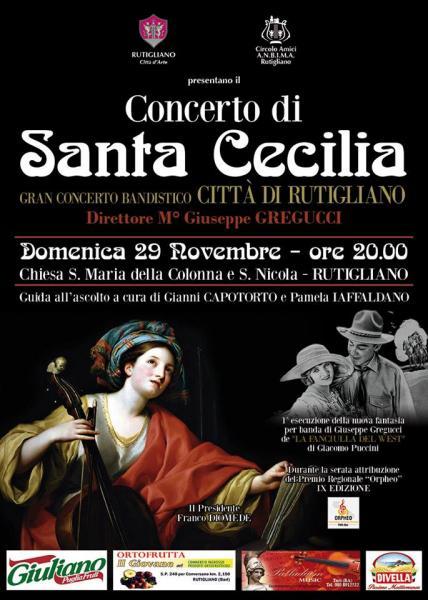 «Concerto di Santa Cecilia» con il Gran Concerto Bandistico《Città di RUTIGLIANO》