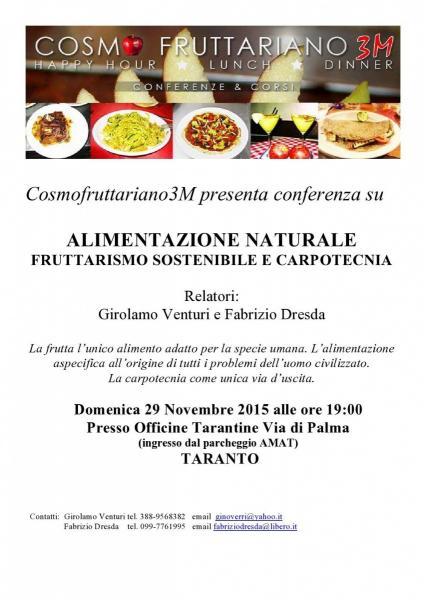 Alimentazione naturale. Fruttarismo sostenibile e carpotecnia.