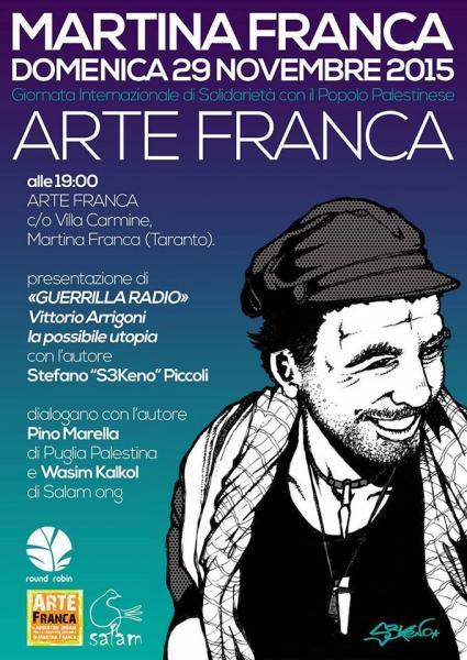 """""""Guerilla Radio. Vittorio Arrigoni, la possibile utopia."""" Presentazione della graphic novel con l'autore Stefano Piccoli"""