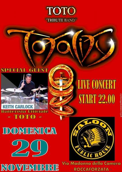 Totality Toto Tribute Band live at Saloon Public House  Special Guest Keith Carlock(toto)