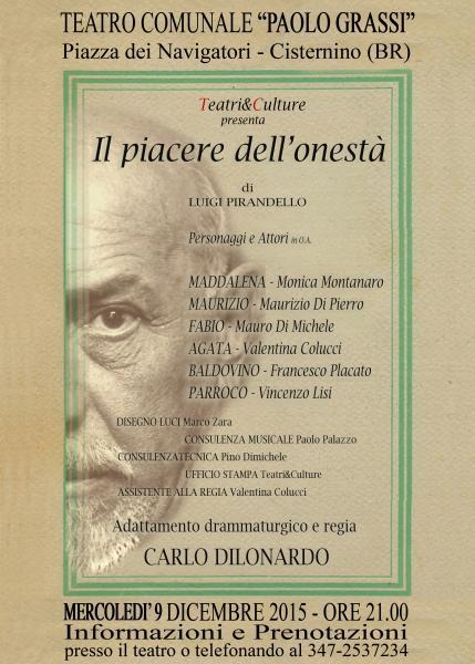 IL PIACERE DELL'ONESTA' - regia Carlo Dilonardo