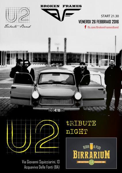 U2 Tribute Night - Broken Frames u2 Tribute Band