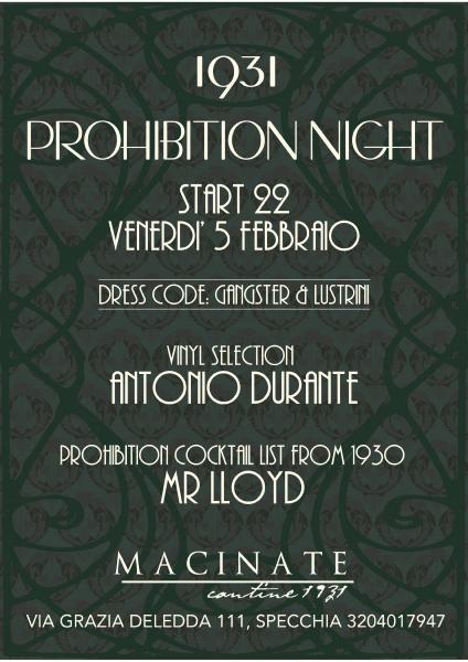 1931 prohibition night macinate cantine 1931 specchia specchia il tacco di bacco - Le macinate specchia ...