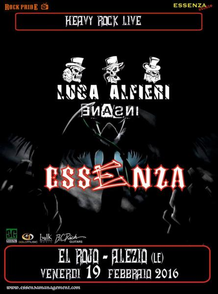 Heavy rock live: Essenza + Luca Alfieri