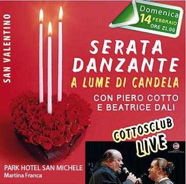 Serata danzante a lume di candela con i Cottosclub