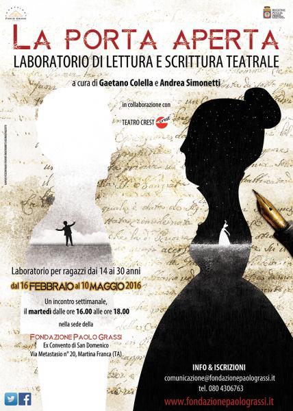 La porta aperta 2016 - presentazione laboratorio di lettura e scrittura teatrale
