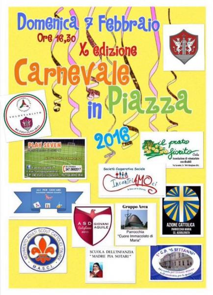 10° Carnevale in Piazza!