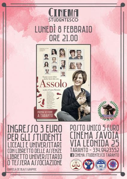 """""""Assolo"""" in rassegna al cinema Savoia"""